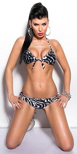 Sexy KouCla Bikini mit Pailletten und Schleifen Koucla by In-Stylefashion SKU 0000W2901 Zebra