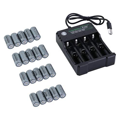 Recargable kit de baterías para la cámara de Netgear Arlo Seguridad -  paquete de 20 baterías,gris