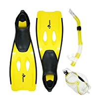 Swim Central Yellow Mondeo Teen/Young Adult Pool Pro Snorkeling Set - Extra Large