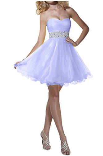 Victory Bridal Attraktive Pailletten Cocktailkleider Kurz Mini Partykleider Abendkleider Festliche Lavender