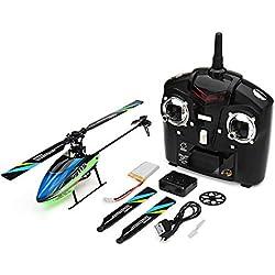 Zantec RC helicóptero eléctrico Control Remoto 2.4G 4CH 6-aixs Gyro Flybarless RC Helicopter RTF Regalo para niños cumpleaños Navidad