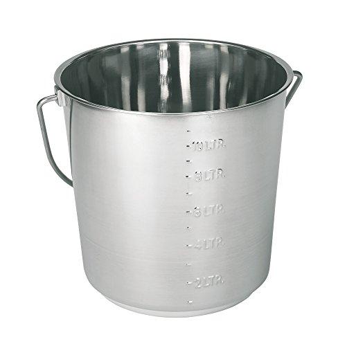 Kerbl Edelstahleimer 12,3 Liter mit Skalierung