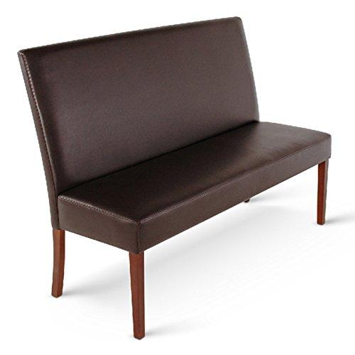 SAM Esszimmer Sitzbank Stefano IV, 200 cm, in schwarz mit kolonial-farbenen Beinen, Sitzbank mit Rückenlehne aus Samolux-Bezug, angenehmer Sitzkomfort,...