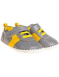 Little Blue Lamb–Zapatos para bebé unidad lernschuhe Zapatillas Gris Amarillo