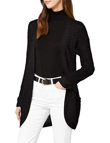 ONLY Damen Strickjacke onlEMMA XO L/S Long Cardigan KNT NOOS, Schwarz Black, 34 (Herstellergröße: XS)