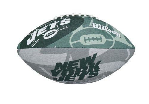 Wilson Football mit dem Logo des NFL Junior Teams, Jungen damen Mädchen Herren, WTF1534IDNJ, NEW YORK JETS, Für Kinder