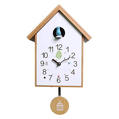 HANGESS Wanduhren - Kuckucksuhr Für Wohnzimmer, Moderne Kreative Dekorative Uhr, Schlafzimmer, Wohnzimmer, Küche, Büro, Kinderzimmer(mit Pendel)