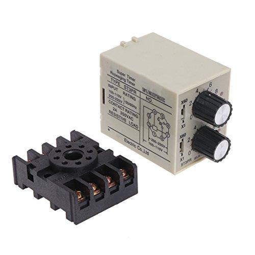 JENOR ST3PR Elektrische Zeitrelais Zähler Relais Digital Timer Relais mit Sockel -