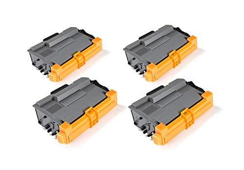 Green2Print Toner Toner Set, 4 cartucce 8000 pagine sostituisce Brother TN-3480 Toner per Brother DCP-L5500D, DCP-L5500DN, DCP-L6600DW, HL-L5000D, HL-L5100DNTT, HL-L5100DN, HL-L5100DTN, HL-L5200D