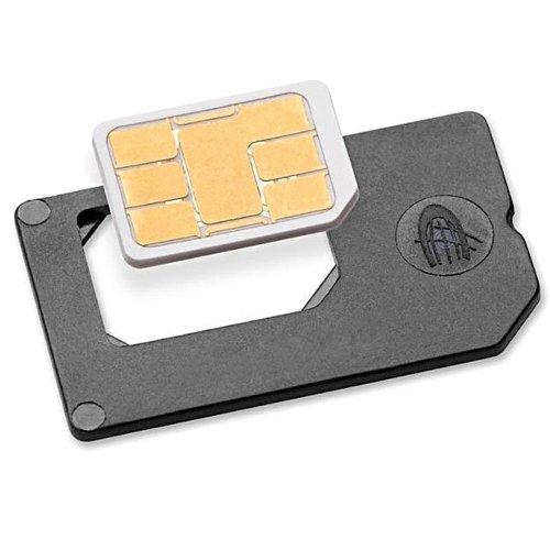 Nano SIM Adapter zu normaler SIM - PREMIUM QUALITÄT - MADE IN GERMANY - für iPhone 7 / 6S / 6 Sim Karten zur Verwendung als normale SIM Karte im Charmate® Druckverschlussbeutel