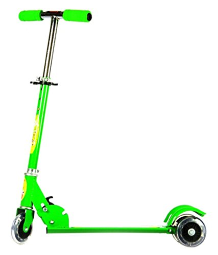 Saffire Kids Scooter with Lightning Wheels, Green
