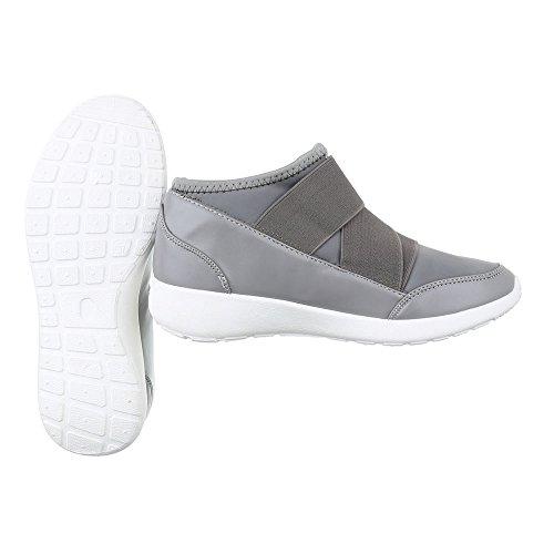 Sneakers blu chiaro con chiusura velcro per donna oFnNP27fSD