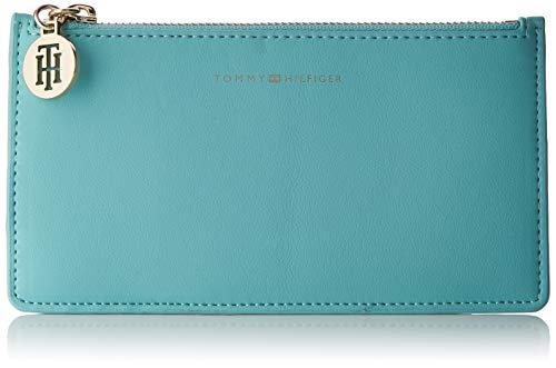 Tommy Hilfiger Statement Med Cc Wallet - Portafogli Donna, Blu (Aqua Haze), 0.5x10x19 cm (B x H T)