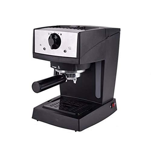 Semi-automatische Kaffeemaschine Pumpe Kaffeemaschine Haushalt Dampf Milch Maschine Espresso-Maschine Multi-Funktion kommerziellen Kaffeemaschine (Color : Black, Size : 17 * 23 * 28cm) -