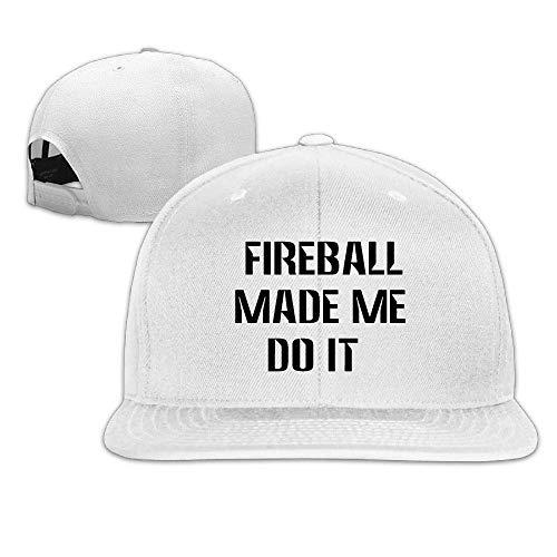 Fireball Made ME DO IT1 Baseball Hats Men & Women Flat Billed Adjustable Casual Street Rapper Hat -