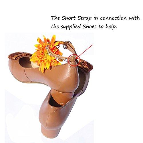 Andux Strisce Adesive Rimovibili per le Scarpe/Antiscivolo Anti-sciolti cinghie scarpa per tacco alto scarpe, cunei, appartamenti di balletto-PXD-01 (Bianco sporco) Nero