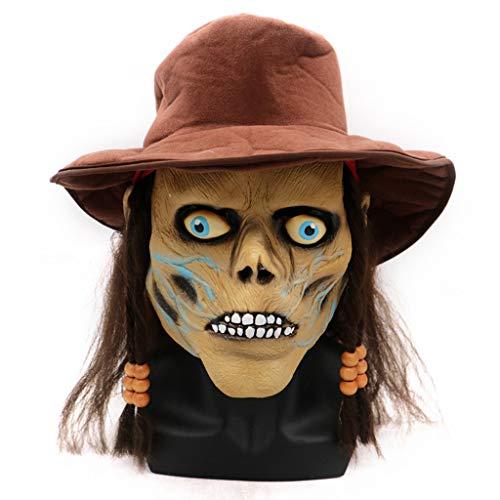 bloatboy Kreativ und Witzig Gruselig Latex Maske - Halloween Maske Weihnachten Maske Ostern Cosplay Scary Mask Kostüm für Erwachsene Party Dekoration Requisiten gruselig - Verwendet Kostüm Für Erwachsene