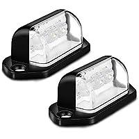TiooDre 2 x Luces LED Número de placas Placa Lámparas de luz trasera universal 12V 24V para remolque del coche del vehículo Camión UTE Caravana Barco Camión