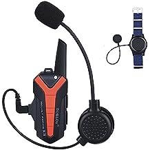 BOBLOV X3 BT Walkietalkie del casco de motocicleta Auriculares intercomunicador 16 canales Impermeable Radio con PTT remoto
