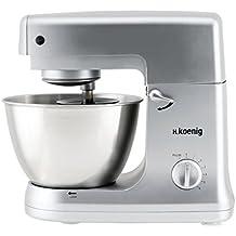 H.Koenig KM 65 KM65-Robot de Cocina multifunción, batidora amasadora, 5