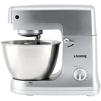 H koenig km78 robot p trin multifonctions 1000 w bol verre cuisine maison - Robot de cuisine petrin ...