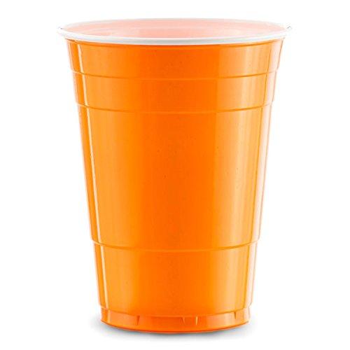 Red Celebration 1000 x Orange Gobelets Américains - Beer Pong Cups Original 50cl - Party Grand jetables Verres en Plastique 16oz - Plusieurs Couleurs | College & Anniversaire Tasses
