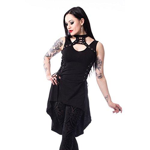 Chemical Black Vestido Linn Punk Gargantilla - Negro (L - 42)