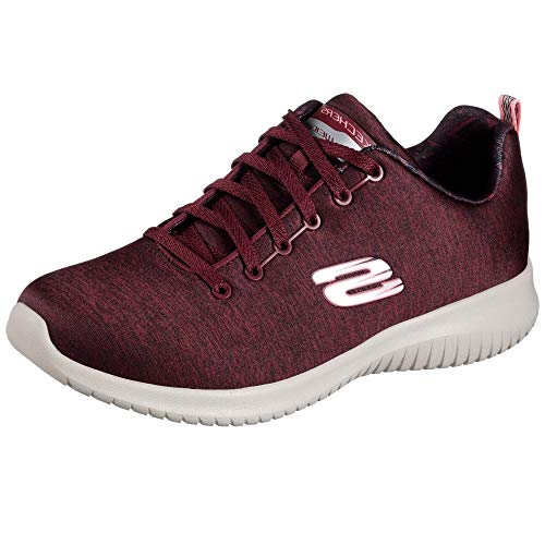 Skechers Ultra Flex First Choice Women s Trainers Fitness Air Cooled Burg c10389b5274