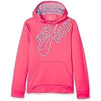 Nike PO GFX Sudadera, niñas, Rosa (Racer Pink) / Gris (Glacier Grey), XL