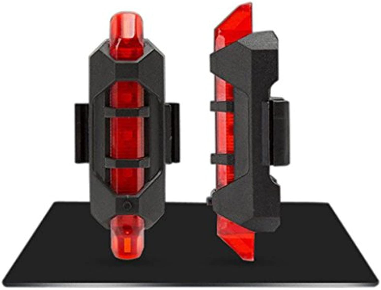 Neu LED Fahrradbeleuchtung Goosun Fahrrad Schwanz Licht Radfahren 5 LED USB Wiederaufladbar Fahrrad Ruumlckseite