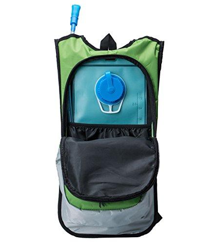 Erasky Trinkrucksack - Hydration Pack mit 2L Trinkblase zum Joggen, Wandern, Radfahren, Camping und Bergsteigen und für alle anderen Outdoor green