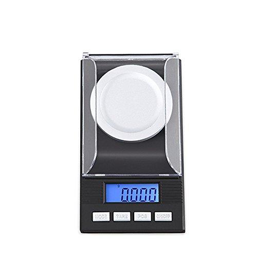 GuDoQi® 50g/0.001g Escala Electrónica Digital Lcd Balance De Laboratorio Alta Precisión Herramientas De Medición De Peso Portátil Escala Médica Escalas De Joyas