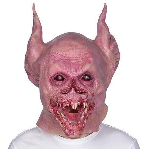 LXIANGP Fledermaus Monster Vampir Zähne Halloween Maske Horror gruselig Latex Tier Maske Kopfbedeckungen