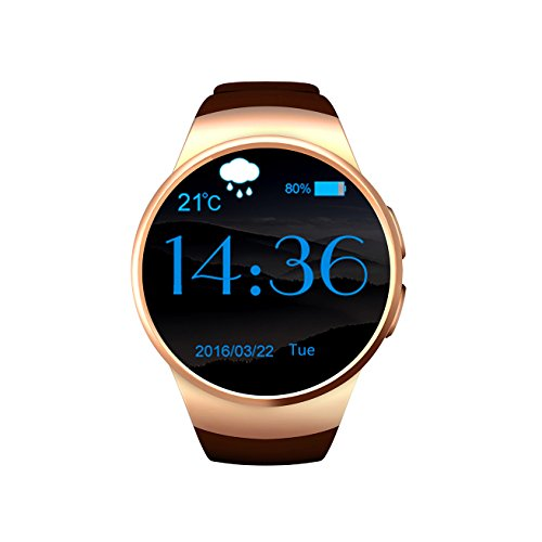 Bluetooth smart orologio / Orologio Intelligente Donna - Fitness Tracker Cardio Sonno Smartwatch Impermeabile All'Acqua, Frequenza Cardiaca Di Prova & Chiamate Vivavoce Registro Chiamate Phone Book - [ Oro ] OW18