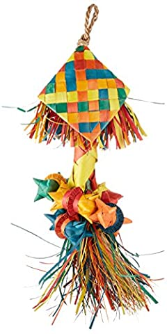 Planet Pleasures Rattle Pinata Bird Toy, Large