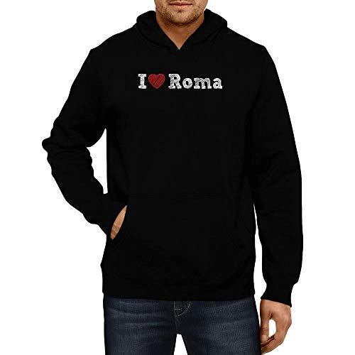 Idakoos I Love Roma Sketch Style Kapuzenpullover M (Roma Love I Pullover)