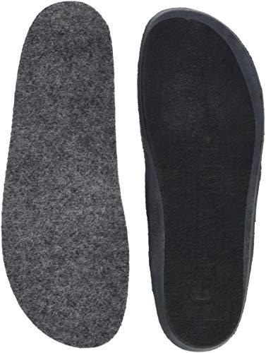 GIESSWEIN Wechselfußbett Ultra-Komfort - anatomisch geformtes Fußbett aus Wolle, Einlegesohlen mit 1 cm Absatzsprengung, warme Schuheinlagen