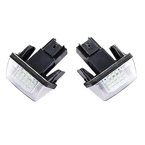 1 Paar Kennzeichenbeleuchtung 18 LED Nummernschildbeleuchtung Kennzeichen Licht fit für
