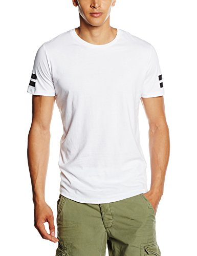 JACK & JONES JCOBORO TEE SS CREW NECK, T-shirt Uomo, Bianco (White), X-Large