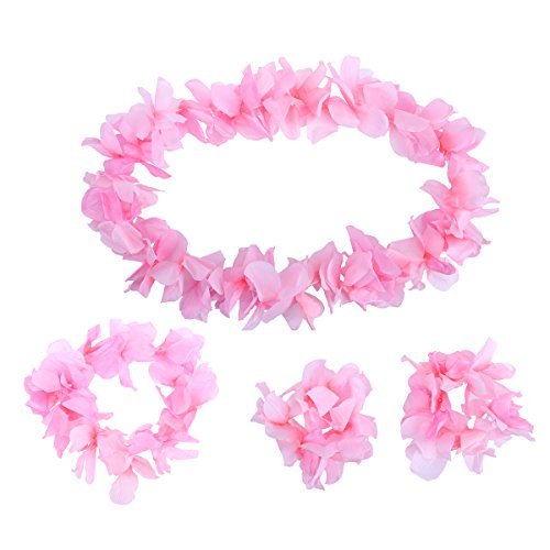 STOBOK 4 Stücke Hawaiian Stirnband Halskette armbänder Hawaiian Luau tropischen Sommer Tiki Pool Mahalo Blume Beach Party Dekorationen -