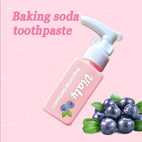Whitening Zahnpasta Viaty Zahnpasta,Fleckentfernung Zahnpasta Kampf Zahnfleischbluten for Empfindliche Zähne,Zahnschmelzschutz Fluoridfrei Zahn Toothpaste,Fruit Flavor Baking Soda Weiße Zähne (30ML)