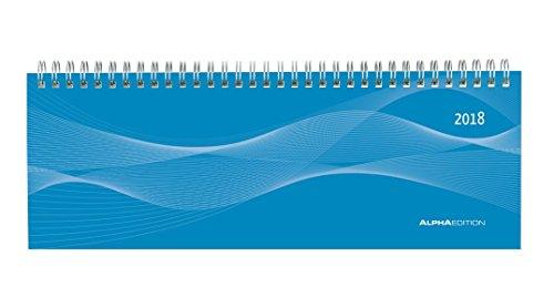 Tisch-Querkalender Profi blau 2018 - Bürokalender / Tischkalender (29,7 x 10,5) - 1 Woche 2 Seiten