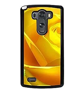 HiFi High Glossy Designer Phone Back Case Cover LG G3 :: LG G3 Dual LTE :: LG G3 D855 D850 D851 D852 ( Yellow Rose Pattern Design )