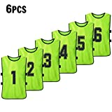 Festnight 6 PCS Adults Basketball Pinnies Quick Drying Basketball Jerseys Soccer Football Team Scrimmage Practice Vest