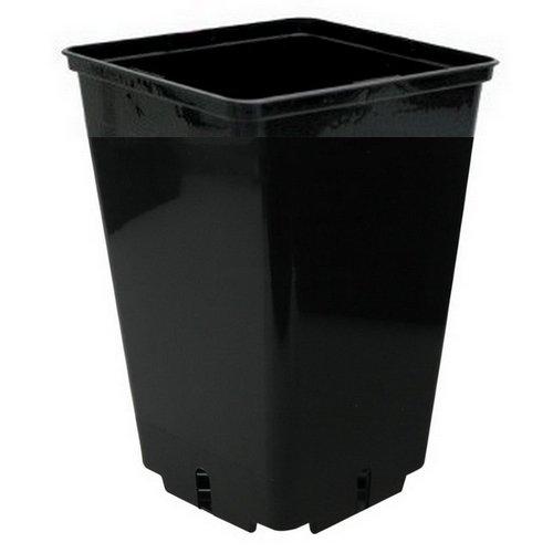 Pot carré noir de culture pour plantes CEP - 16x16x23,5cm (4L)