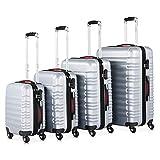 Monzana® Baseline 4er Set Koffer |Silber S, M, L,...