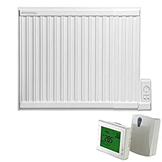 ADAX APO Oil Filled Electric Thermostatic Wall Mounted Radiator in Classic White, 600mm High. Radiant, Traditional Style, Rapid and Cost Efficient Room Heat, with Programmable 247 Wireless Timer, 700W
