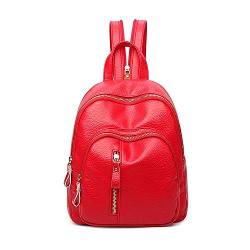 Sacchetto di spalla femminile / nuova versione coreana del sacchetto casuale di modo della marea selvaggia / piccolo zaino / mini torace delle signore ( Colore : Rosso ) Rosso