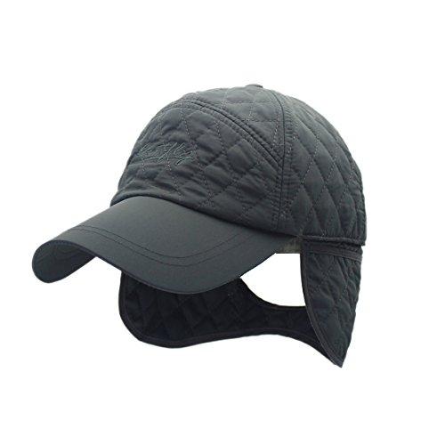 Plaid Baseball Caps Faltbare Earflaps Hüte Paar Stil, verstellbare Größe (Plaid Ohrenklappen Cap)