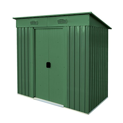 verdelook maisonette, casetta in metallo box da giardino a una falda, 194x121 altezza 181 cm